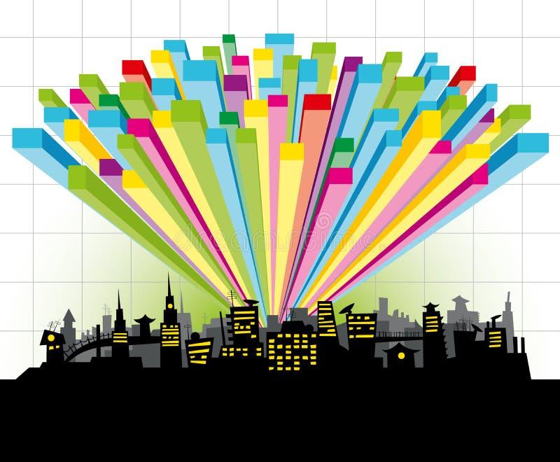 城市绘制 向量例证