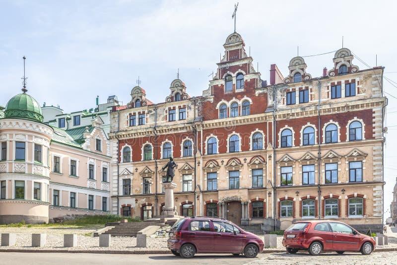 城市维堡 奥尔德敦霍尔广场 免版税库存照片