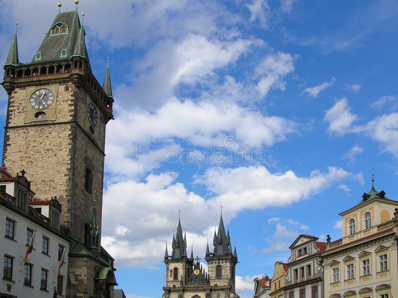 城市老布拉格squaire 图库摄影