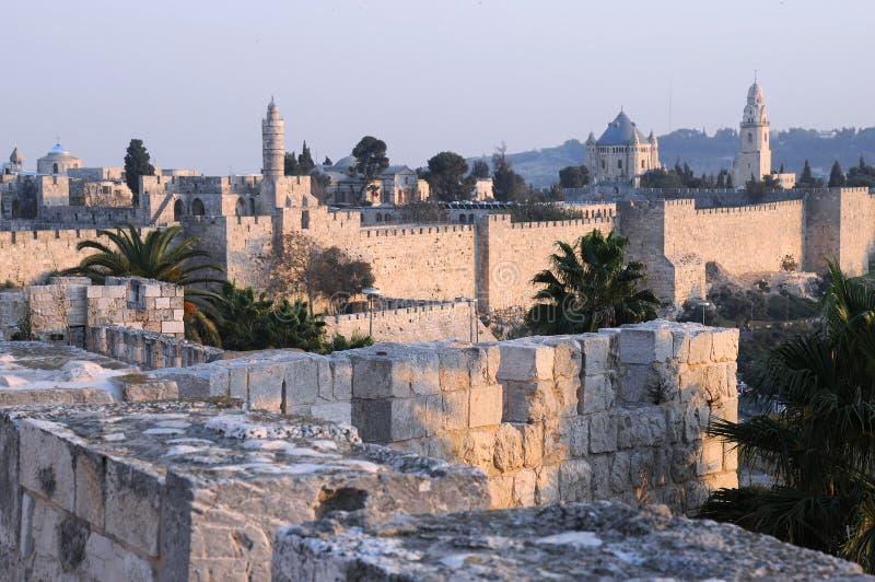 城市老耶路撒冷 免版税库存图片