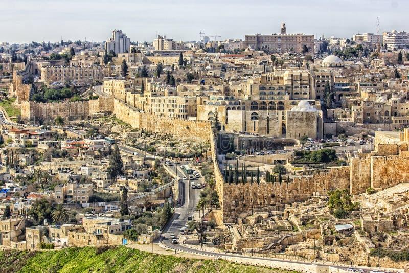 城市老耶路撒冷 免版税图库摄影