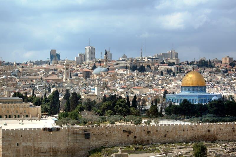 城市老耶路撒冷 图库摄影