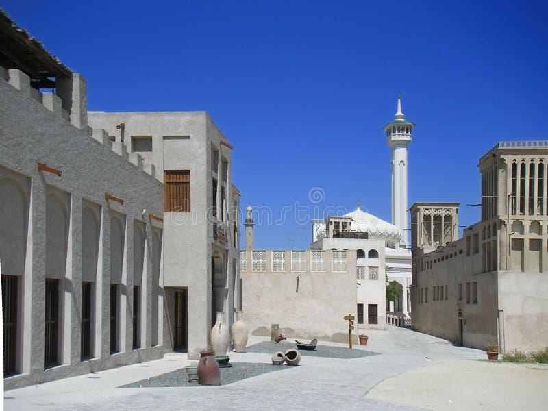 城市老迪拜 免版税库存照片