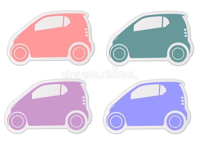 城市聪明的汽车贴纸 向量例证