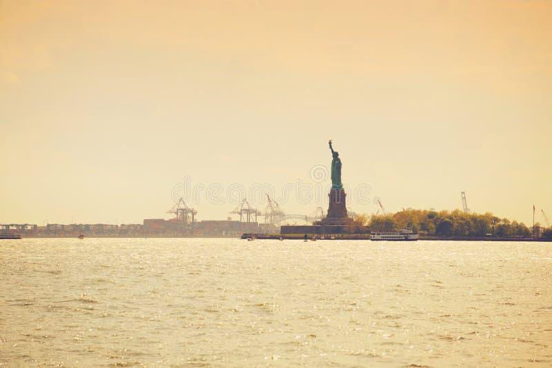 城市自由新的雕象美国约克 库存图片