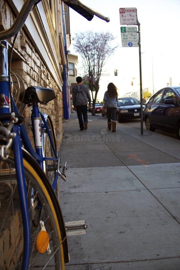 城市自行车 库存照片