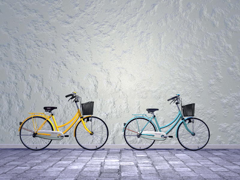 城市自行车- 3D回报 向量例证