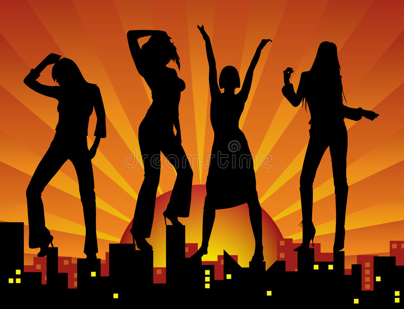 城市舞女 向量例证