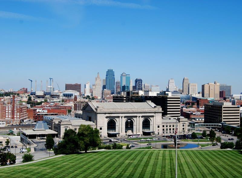 城市街市堪萨斯地平线 免版税库存照片