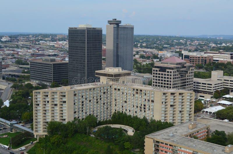 城市街市堪萨斯地平线 库存照片