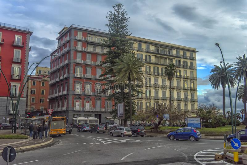 城市街道在市中心 免版税图库摄影
