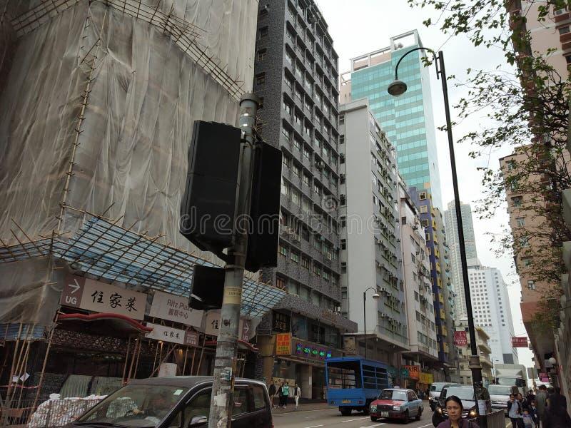 城市街道瓷hk 免版税库存照片