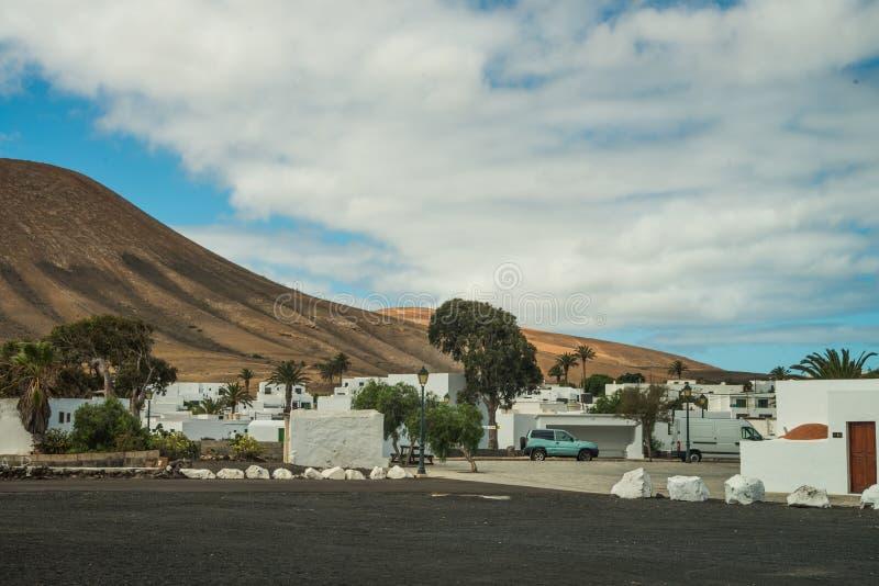 城市视图在兰萨罗特岛 免版税库存图片