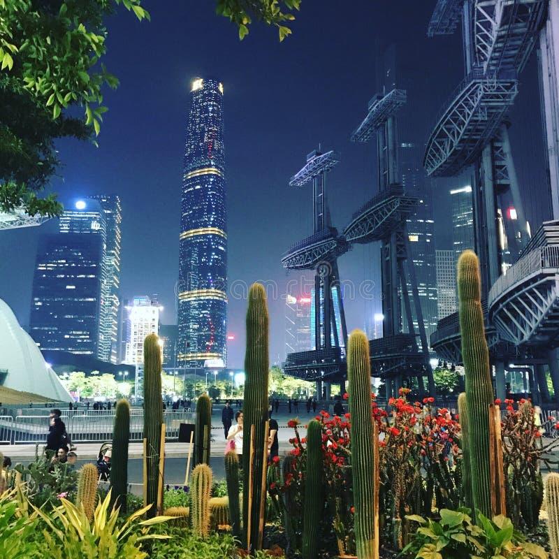 城市视图在广州,中国 免版税库存图片