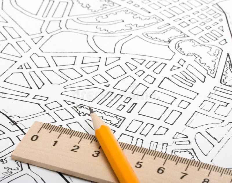 城市计划 免版税库存照片