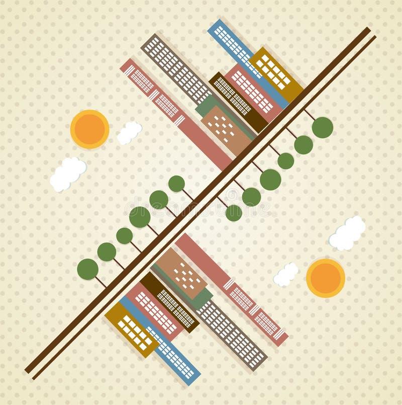 Download 城市象 向量例证. 插画 包括有 现代, 例证, 地平线, 通风, 城市, 五颜六色, 街道, 图标, 旅行 - 30330675