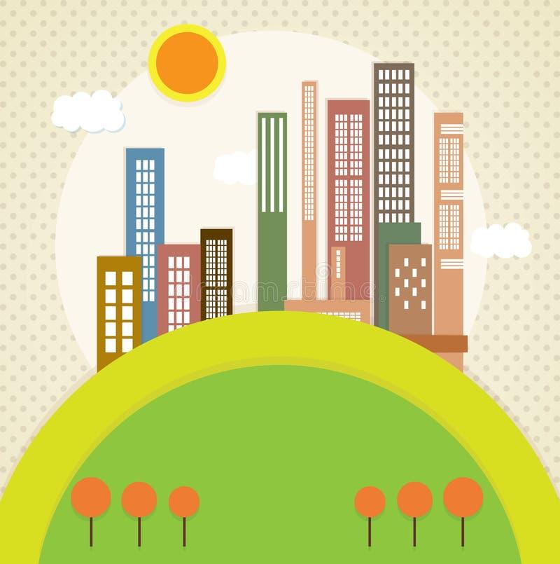 Download 城市象 向量例证. 插画 包括有 地区, 天空, 布琼布拉, 拱道, 城市, 结构, 地平线, 要素, 街道 - 30330706