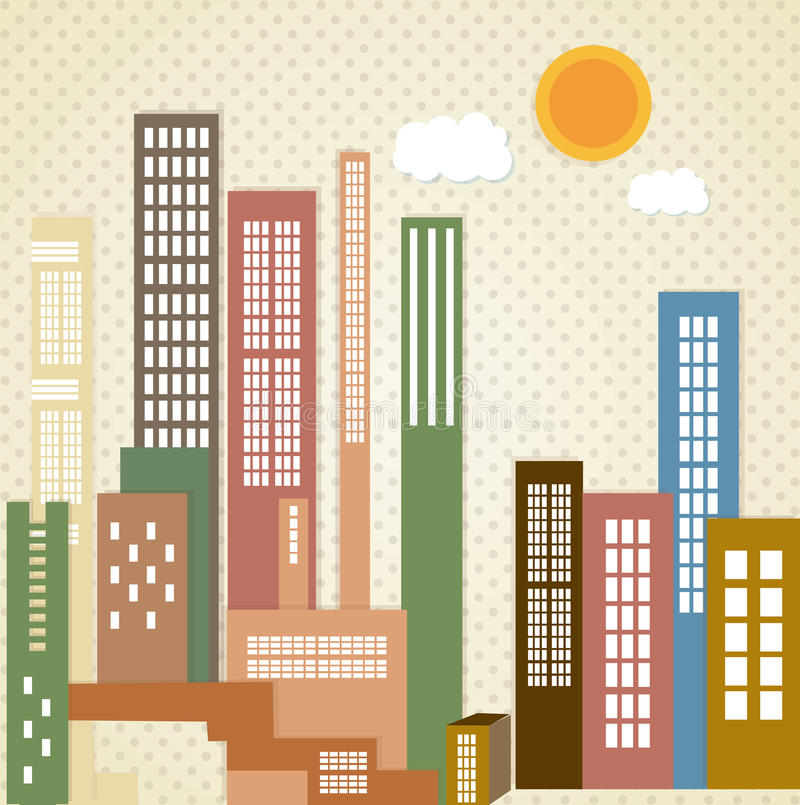 Download 城市象 向量例证. 插画 包括有 街道, 地平线, 城市, 通风, 摩天大楼, 天空, 外部, 行动, 大城市 - 30330759