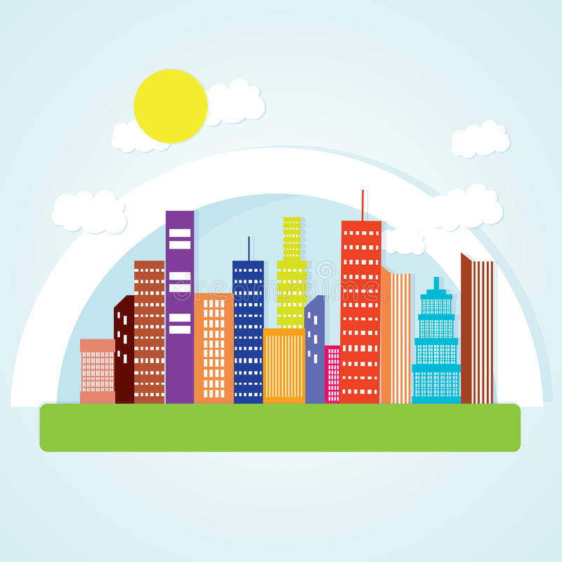 Download 城市象 向量例证. 插画 包括有 拱道, 要素, 大城市, 街市, 日落, 运输, 五颜六色, 街道, 都市风景 - 30330795