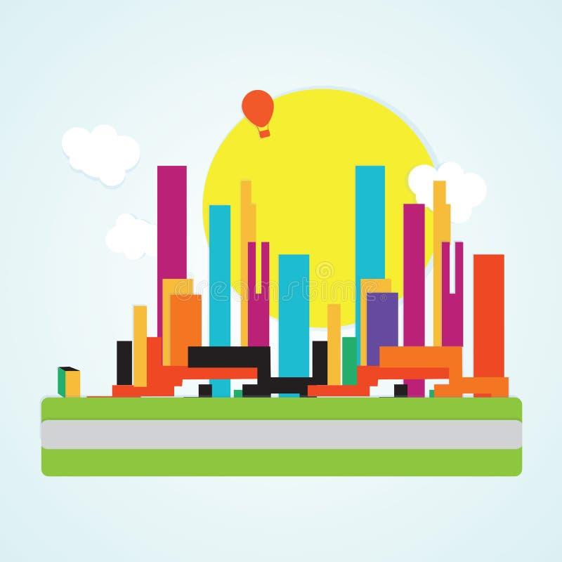 Download 城市象 向量例证. 插画 包括有 布琼布拉, 结构, 运输, 大城市, 例证, 商业, 地平线, 都市风景 - 30330825