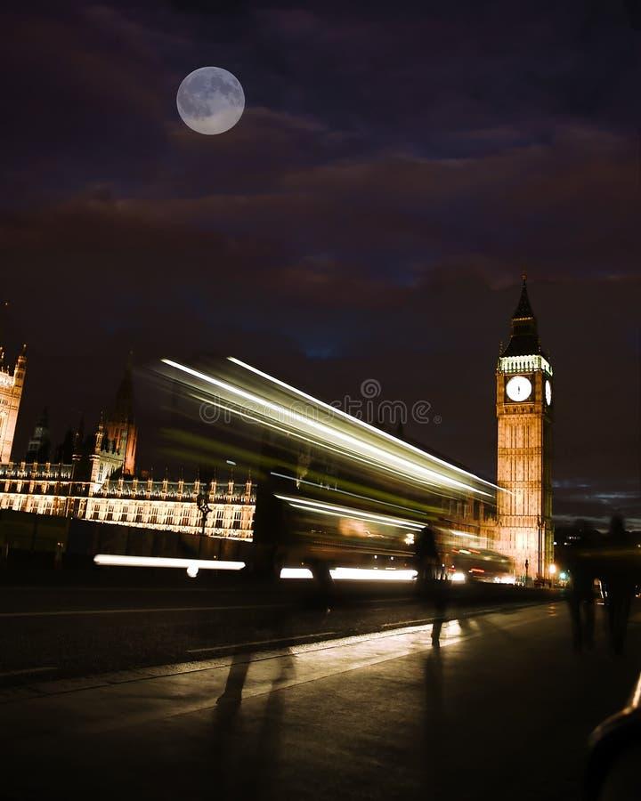 城市轻的伦敦 库存照片