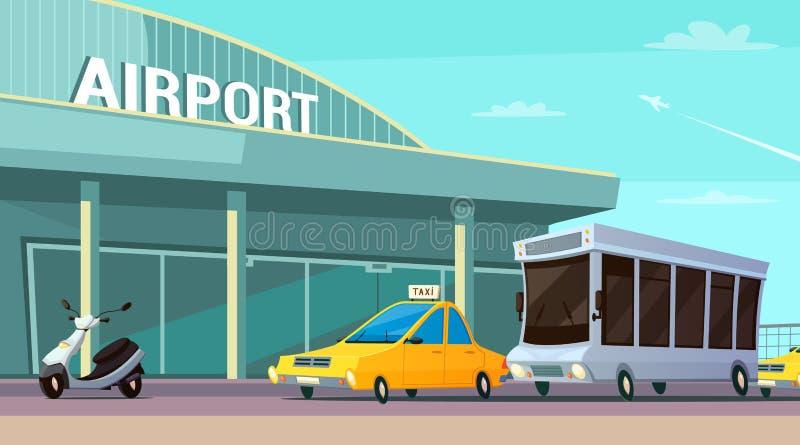 城市运输动画片构成 向量例证