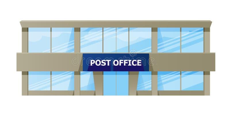城市邮局门面外部,送货服务 向量例证