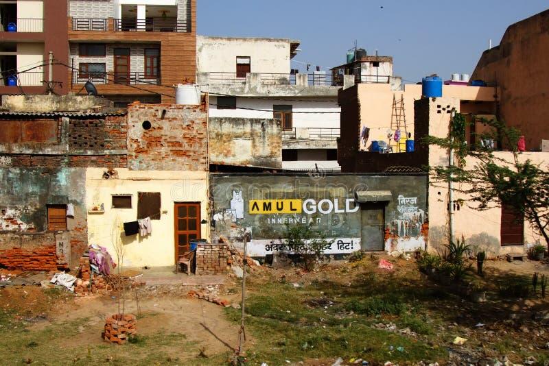 城市郊区恶劣的区域  库存照片