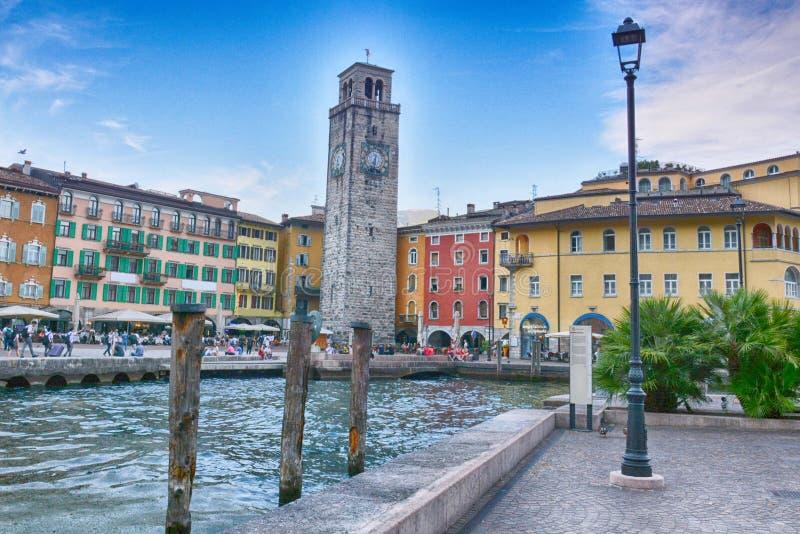 城市里瓦德尔加尔达,意大利 图库摄影