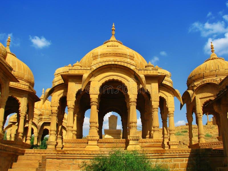 城市金黄jaisalmer壮观的拉贾斯坦 库存照片