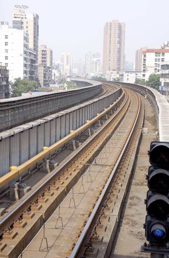 城市铁路运输 免版税库存图片