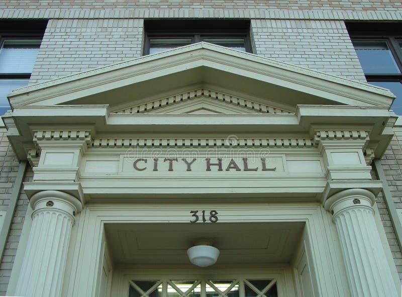 城市门大厅标头 免版税图库摄影