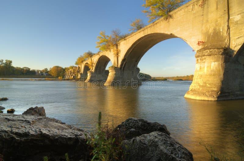 城市间的桥梁 免版税图库摄影