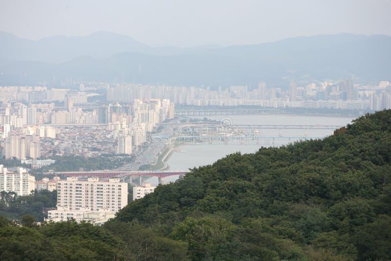城市韩国汉城视图 免版税库存照片