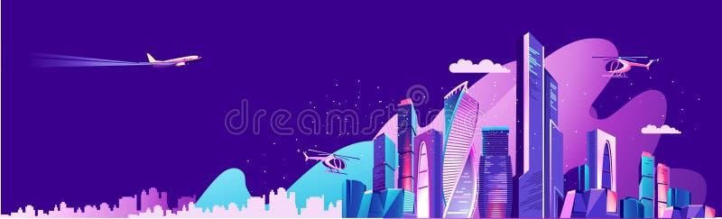 城市风景概念 皇族释放例证