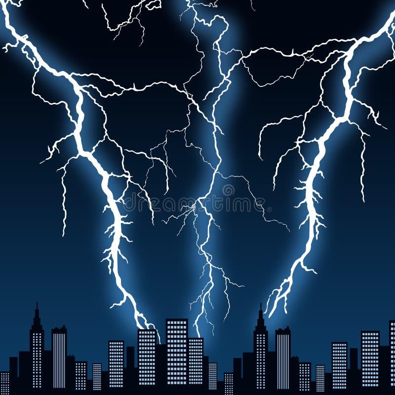 城市风暴 向量例证