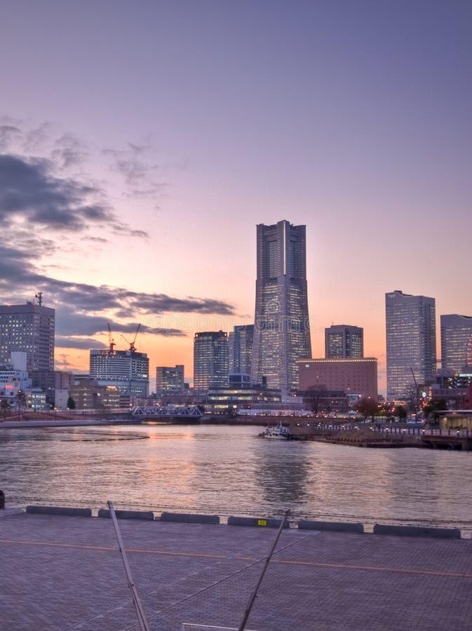 城市高日本上升东京横滨 图库摄影