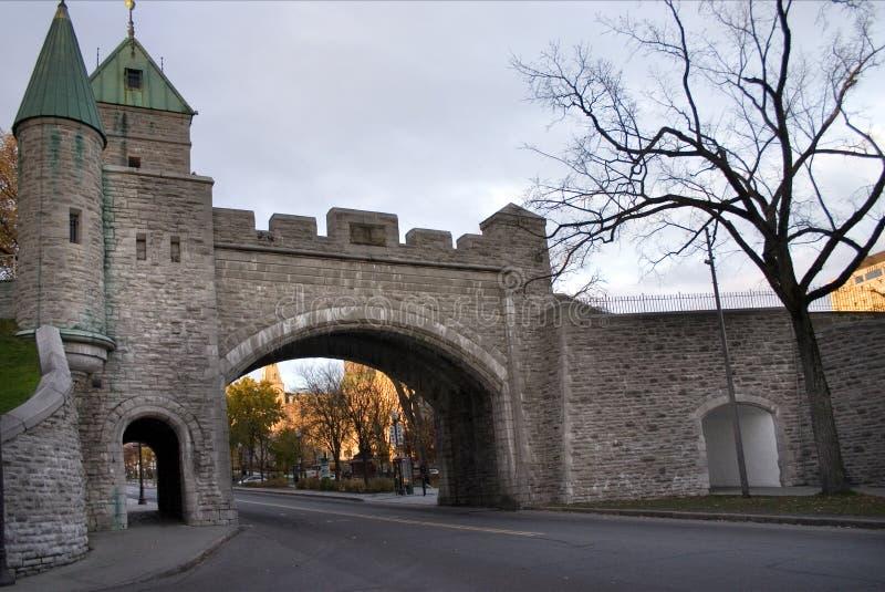 城市魁北克墙壁 免版税库存照片