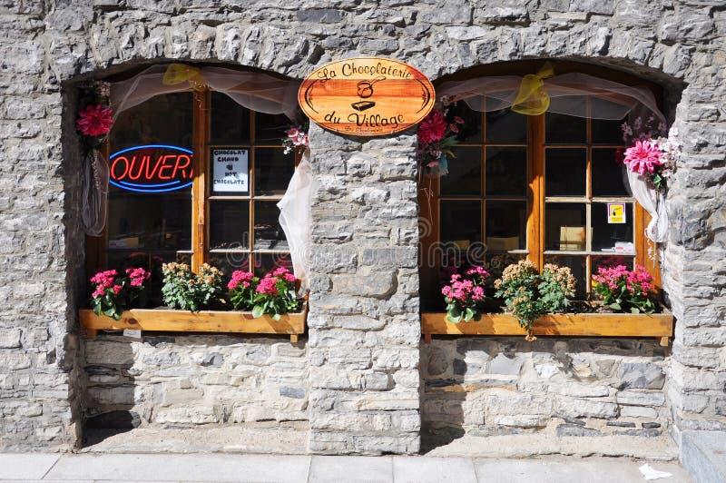 城市魁北克时髦的视窗 免版税库存照片