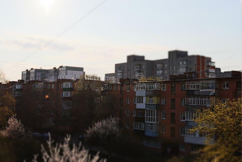 城市,建筑学,早晨,房子,街道 库存图片