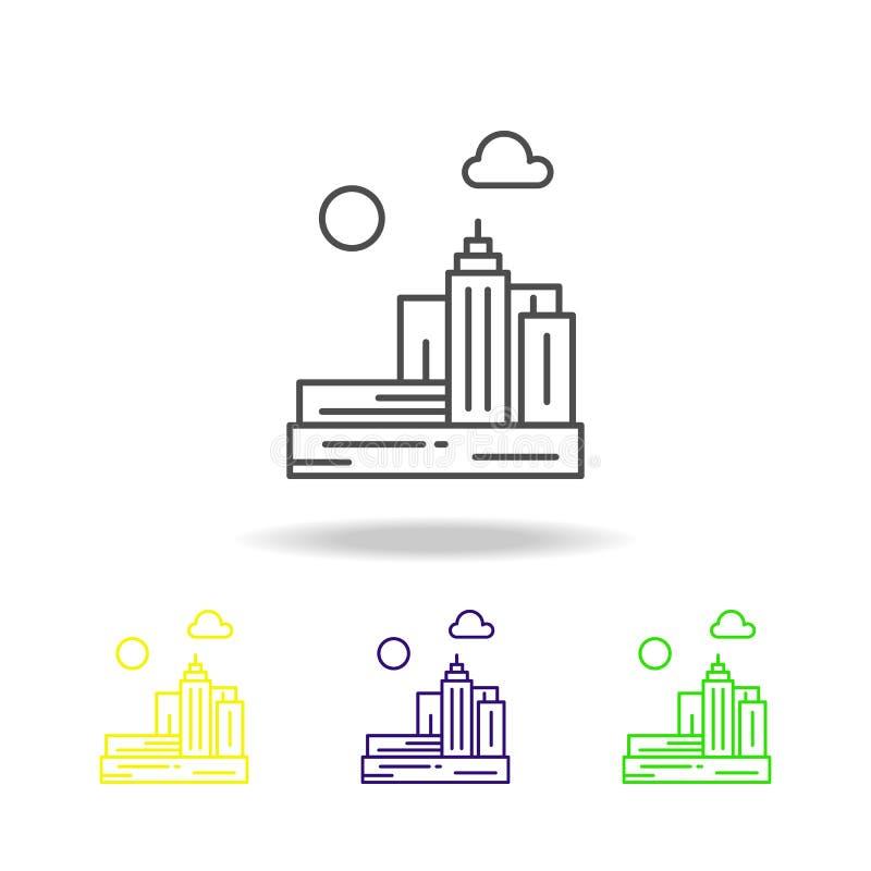 城市,建筑学,都市,地平线色的象 能为网,商标,流动应用程序,UI,UX使用 皇族释放例证