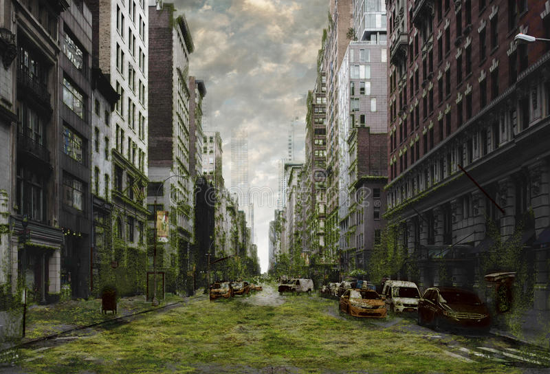 城市默示录 免版税库存图片