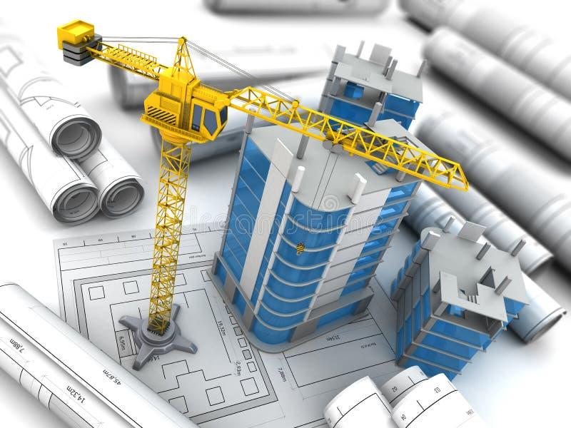 城市建筑3d 免版税库存照片