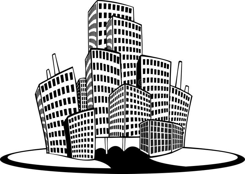 城市 向量例证