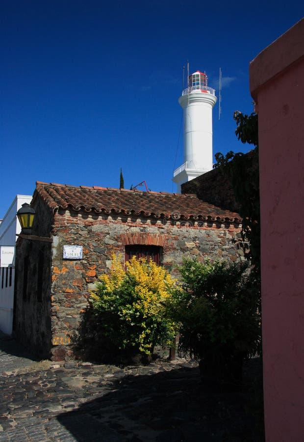 城市colonia del有历史的四分之一萨加门多街 库存图片