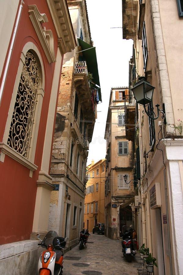 城市corfu希腊爱奥尼亚人海岛海运 免版税图库摄影
