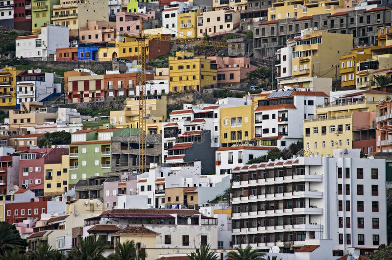 城市de gomera la San Sebastian 库存照片