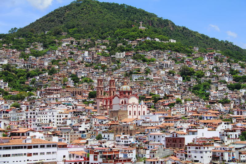 城市iii taxco 库存图片