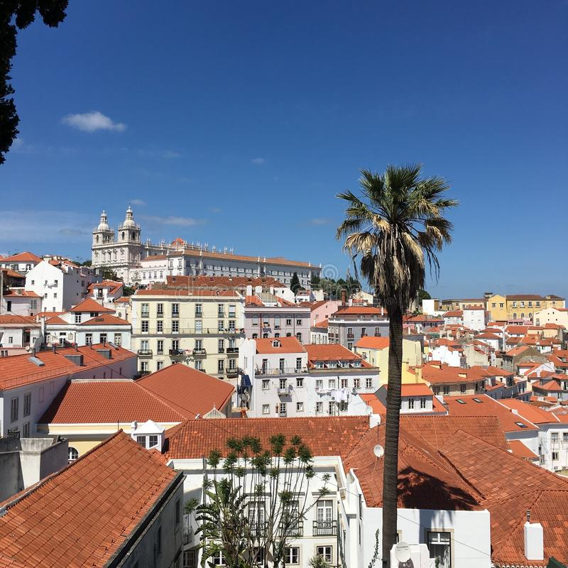 城市Lisbonne 库存照片