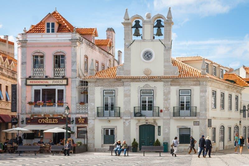 城市os卡斯卡伊斯 阳光海岸在葡萄牙 图库摄影